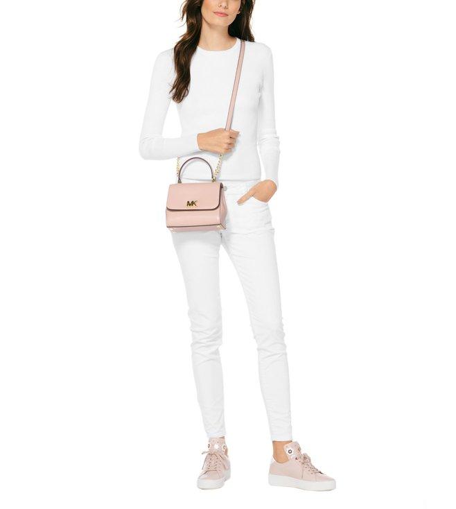 3a63288c280e Buy MICHAEL Michael Kors Soft Pink Mott Small Leather Satchel for ...