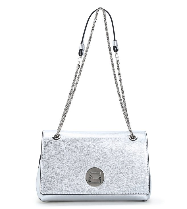 8c79d78a37bcd Buy Coccinelle Silver Liya Medium Leather Shoulder Bag for Women ...