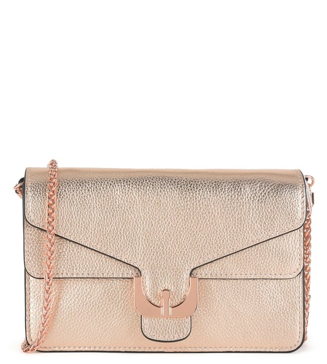513e70ed09 Buy Coccinelle Rose Gold Ambrine Leather Clutch for Women Online ...