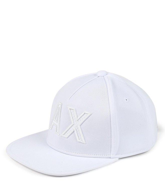 Armani Exchange Bianco Vintage Textured Baseball Cap