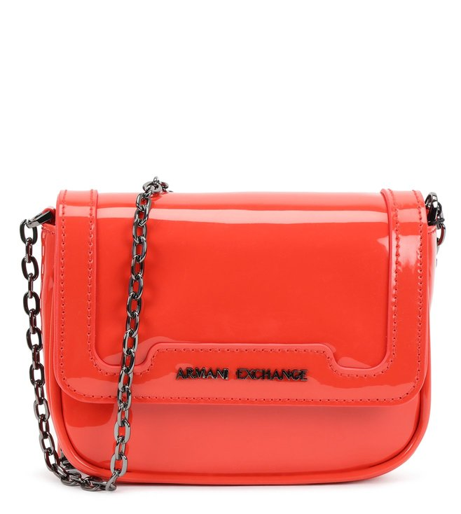 6e5a7ced26 Buy Armani Exchange Poppy Red Small Cross Body Bag for Women Online ...
