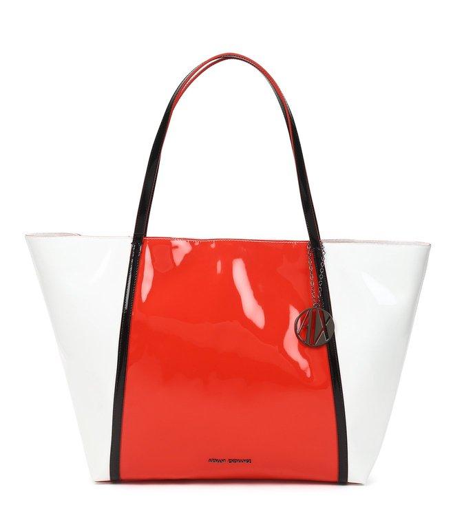 fefe7704f5c2 Buy armani exchange red white big tote for women online tata jpeg 658x734 Armani  exchange large