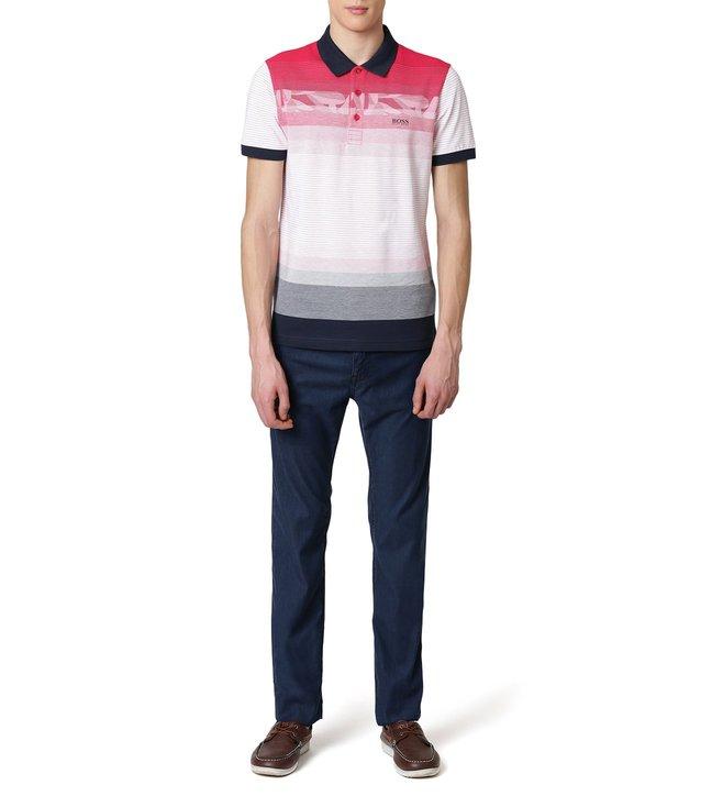 6824fbdd Buy Hugo Boss Bright Pink Paule 6 Athleisure Polo T-Shirt for Men ...