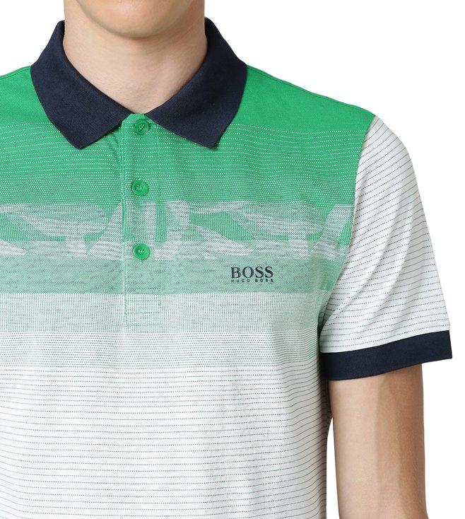 a35384f63 Buy Hugo Boss Medium Green Paule 6 Athleisure Polo T-Shirt for Men ...