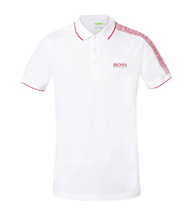 35472695d4e11 Buy Hugo Boss White Paule Athleisure Polo T-Shirt for Men Online ...