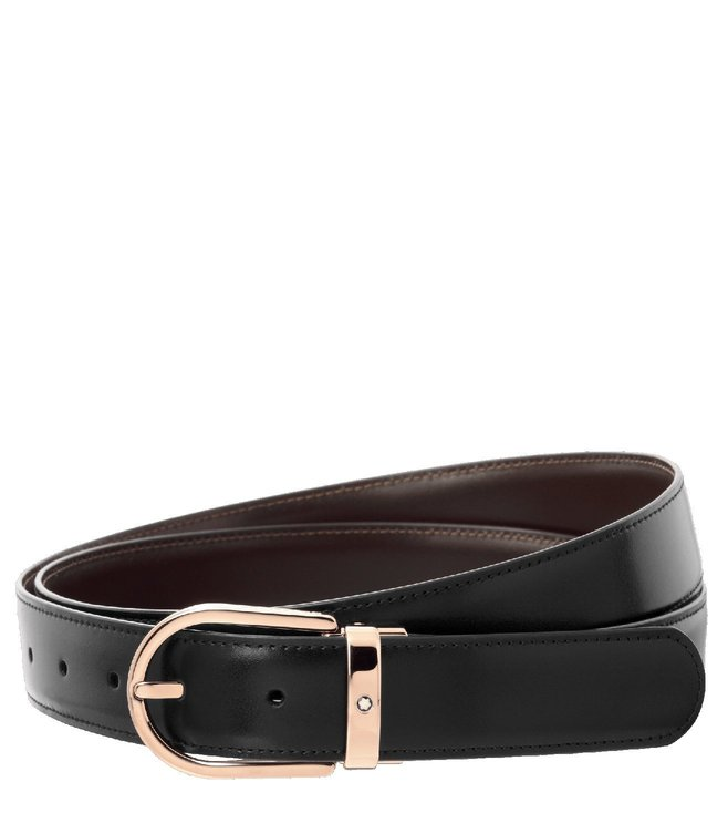 fb525a1934bf1 Buy Montblanc Black   Brown Reversible Cut-To-Size Business Belt for ...