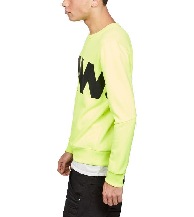 4746387a966 Buy G-Star RAW Neon Yellow Graphic Deconstructed Slim Fit Sweater ...