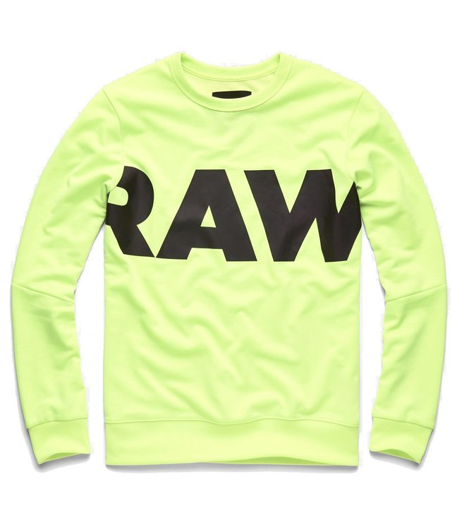 20cae6c050 Added to Bag. G-Star RAW Neon Yellow Graphic Deconstructed Slim Fit Sweater