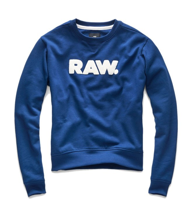G-Star RAW Blue Core Boyfriend Fit Sweatshirt