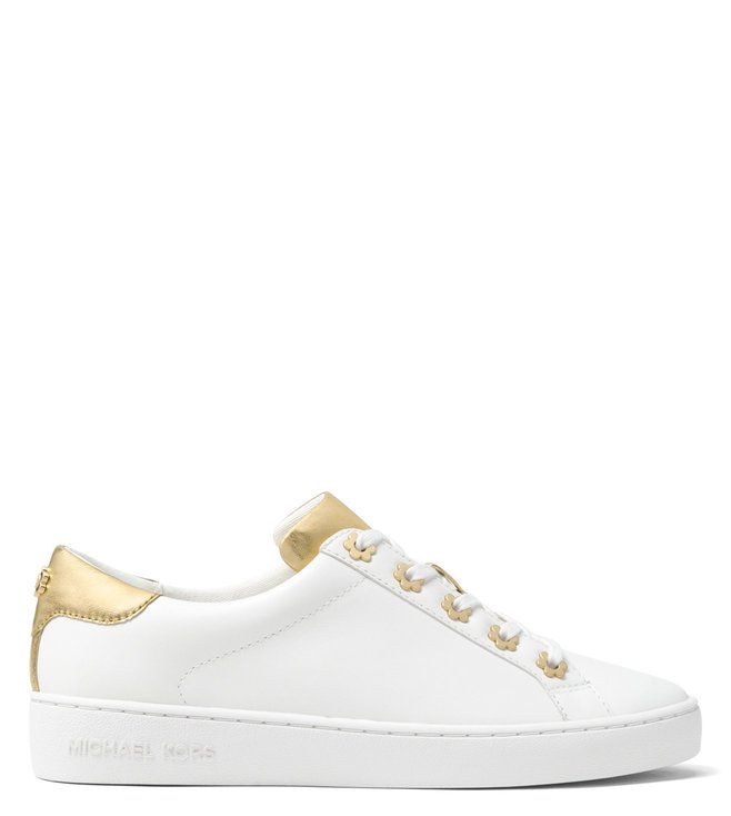 235947deec03 Buy MICHAEL Michael Kors Optic White & Gold Irving Sneakers for ...