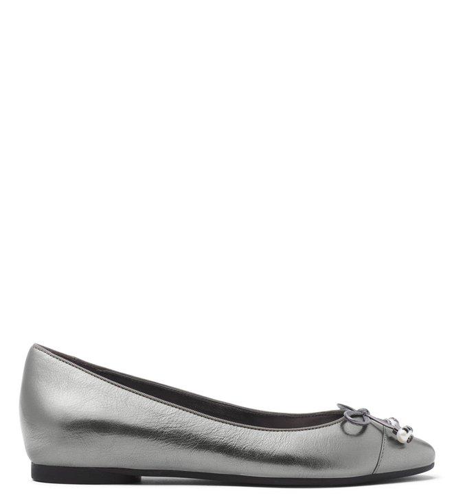 7568da73039f Buy MICHAEL Michael Kors Gunmetal Gia Ballerinas for Women Online ...