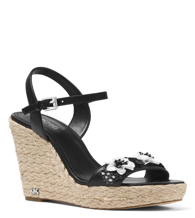 10933f509553 Buy MICHAEL Michael Kors Black Jill Floral Sequined Wedges for Women ...