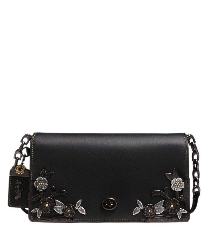 b1826e6e6 Buy Coach Black Dinky Cross Body Bag for Women Online @ Tata CLiQ Luxury