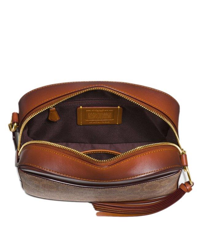 a9ea11825486 Buy Coach Rust Signature Canvas Camera Cross Body Bag for Women ...