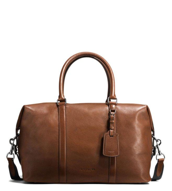 d62483311 Buy Coach Dark Saddle Explorer Duffle Bag for Men Online @ Tata CLiQ ...