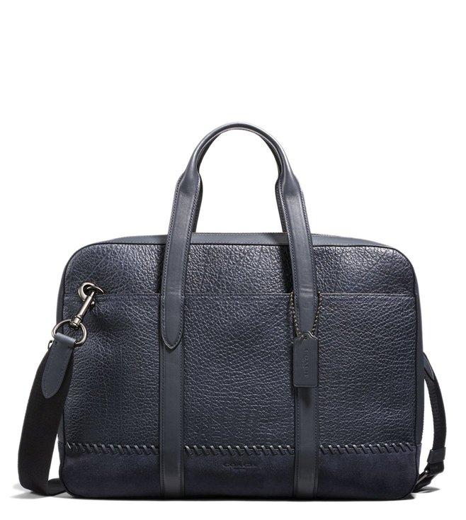 e5600fd2c3d2 Buy Coach Midnight Navy Metropolitan Soft Leather Laptop Bag for Men ...