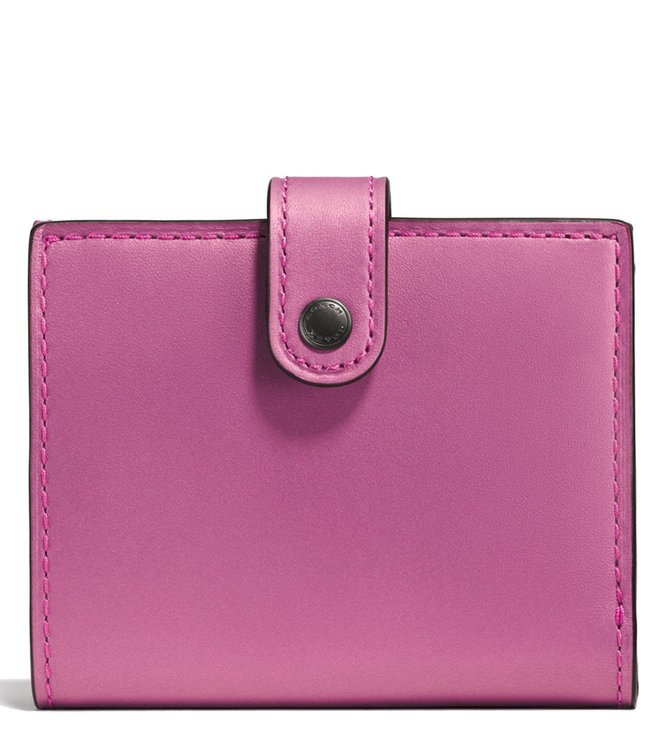 f4fba963a475 Buy Coach Metallic Rose Bright Pink Small Trifold Wallet for Women ...