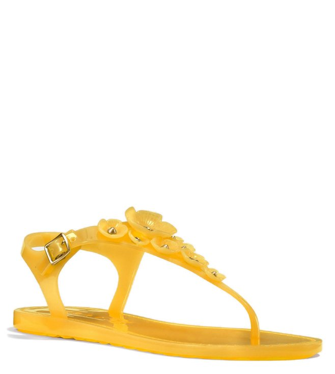 afe6cbf2bb14 Buy Coach Canary Tea Rose Jelly Sandals for Women Online   Tata CLiQ ...