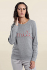 Vero Moda Grey Embroidered Sweater