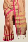 Pavecha's Pink Cotton Silk Banarasi Saree With Blouse