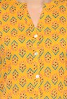Varanga Mustard Printed Cotton Straight Kurta
