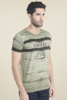 Killer Sage Green Printed T-Shirt