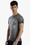 883 Police Dark Grey Printed Cotton T-Shirt