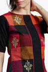 Jaipur Kurti Multicolor Checks Midi Dress