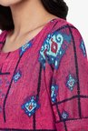 Global Desi Hot Pink Printed Shift Dress