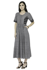 Varanga Grey Textured Cotton Dress