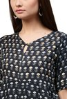 Jaipur Kurti Navy Embroidered Dress