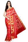 Pavecha's Red Printed Cotton Silk Banarasi Saree