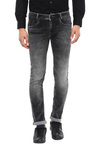 Mufti Dark Grey Lightly Washed Mid Rise Jeans