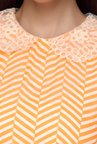 Mineral Orange Printed Top