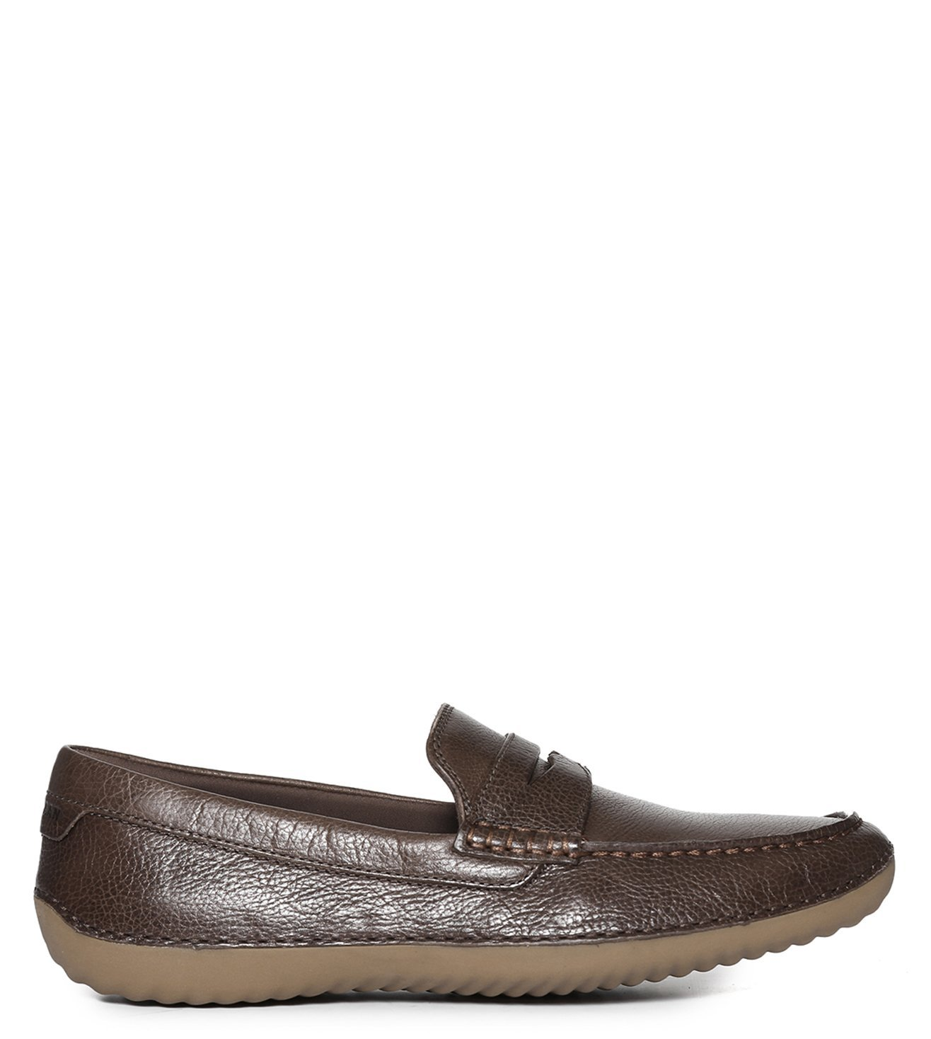 871a7f8c6ee Buy Cole Haan Brown Motogrand Penny Driver Loafers for Men Online   Tata  CLiQ Luxury