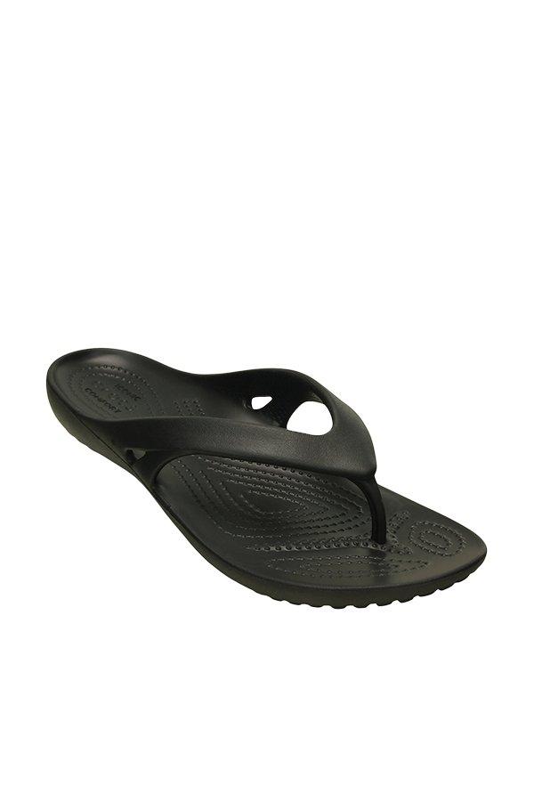 d17ad4ba26cf Buy Crocs Kadee II Black Flip Flops Online at best price at TataCLiQ