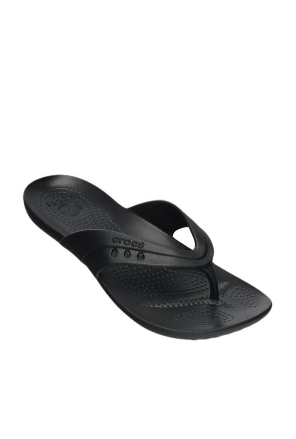 94397420e43c Buy Crocs Kadee Black Flip Flops Online at best price at TataCLiQ