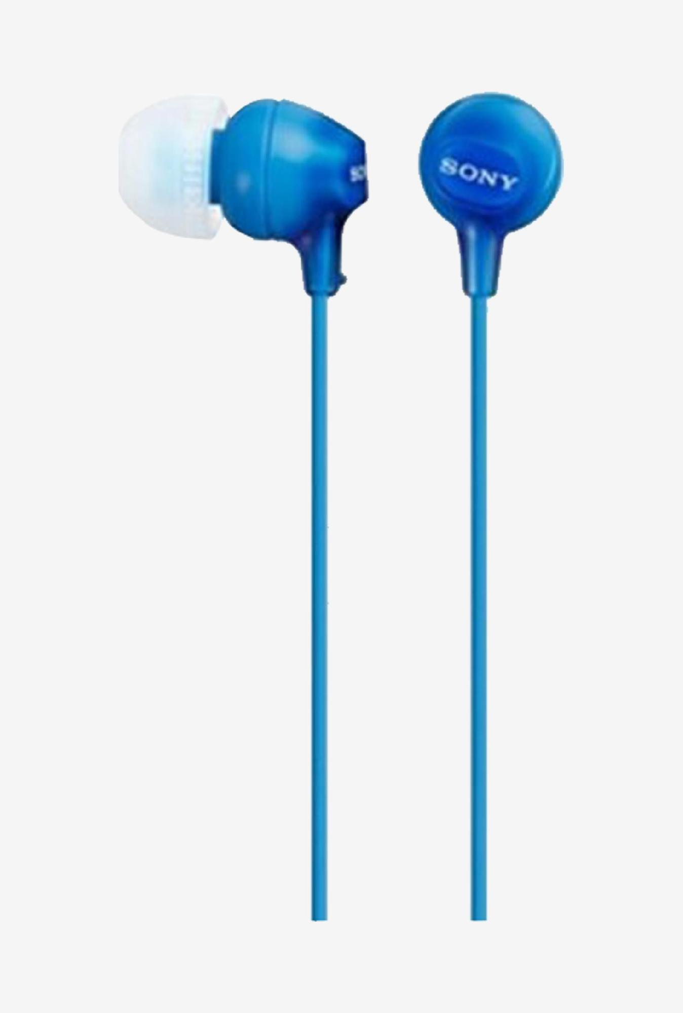 Sony MDR-EX15LP In The Ear Headphones (Blue)