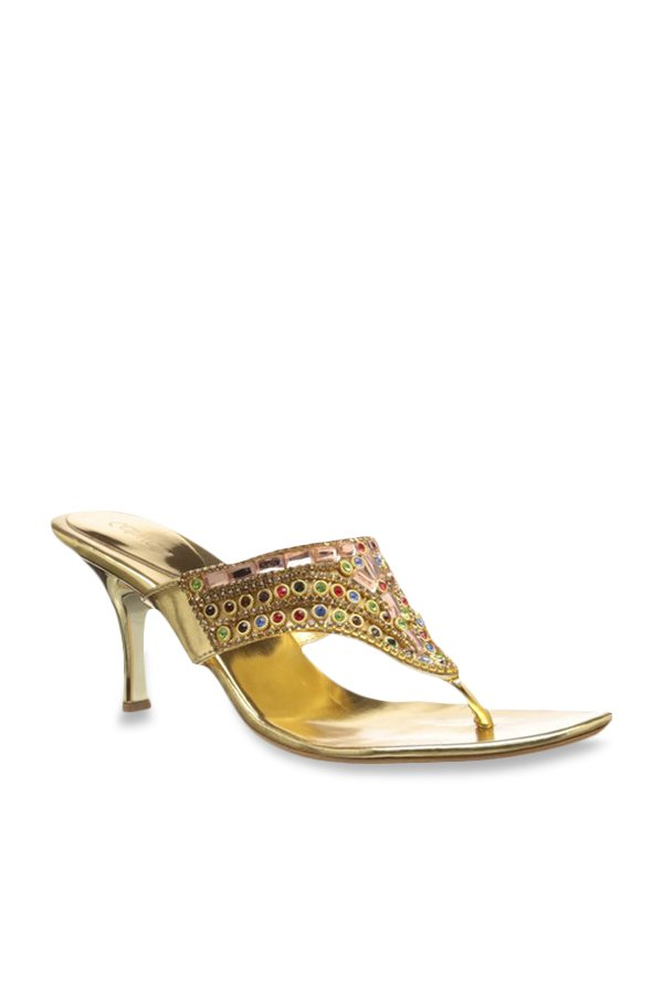 Catwalk Golden Thong Sandals
