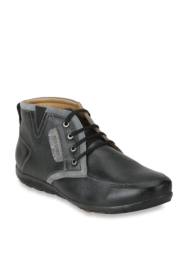 82c446ec962 Buy Red Chief Black Derby Boots for Men at Best Price @ Tata CLiQ
