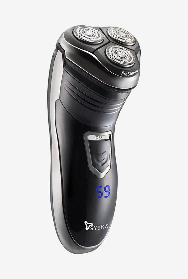 Syska ProShave SH986 Rotary Shaver For Men (Black)