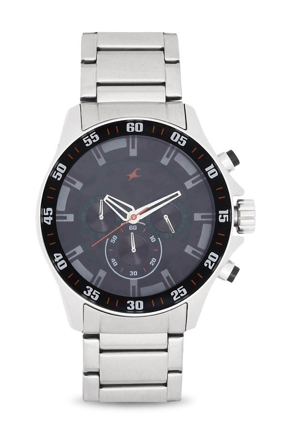 ee9539d9a Buy Fastrack NK3072SM04 Big Time Analog Watch for Men at Best Price   Tata  CLiQ
