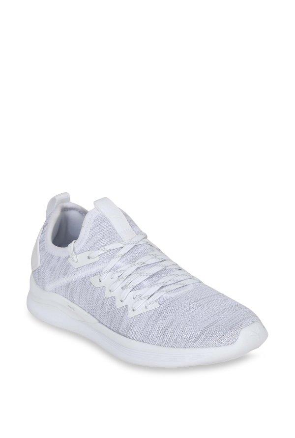 294c771b1d17bd Buy Puma Ignite Flash evoKNIT White Running Shoes for Women at Best Price    Tata CLiQ