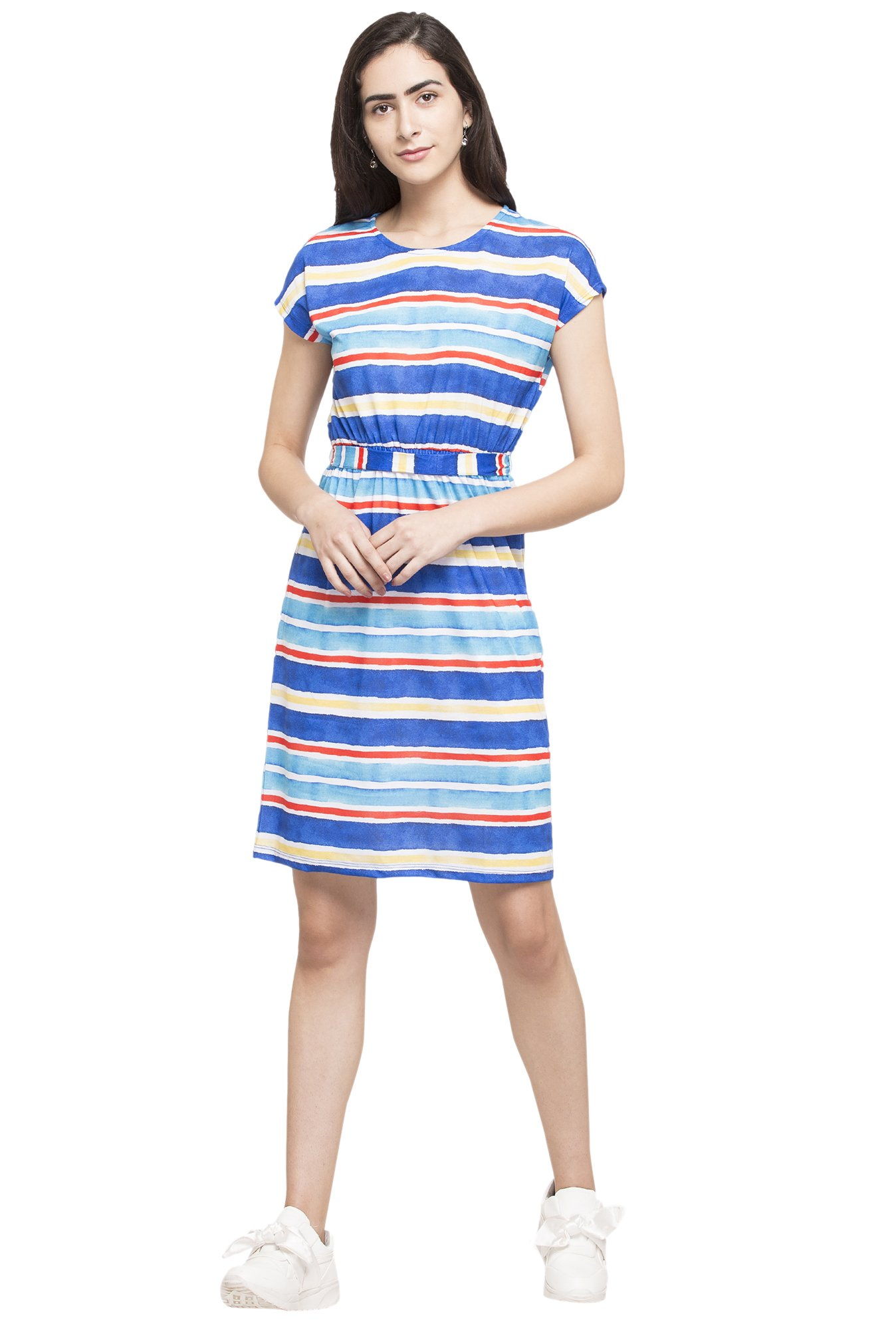 35eb572655c Buy Globus Multicolor Striped Dress for Women Online   Tata CLiQ