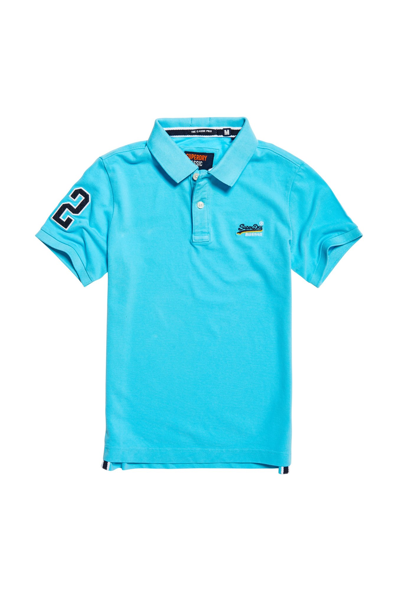 Superdry Blue Cotton Polo T-Shirt