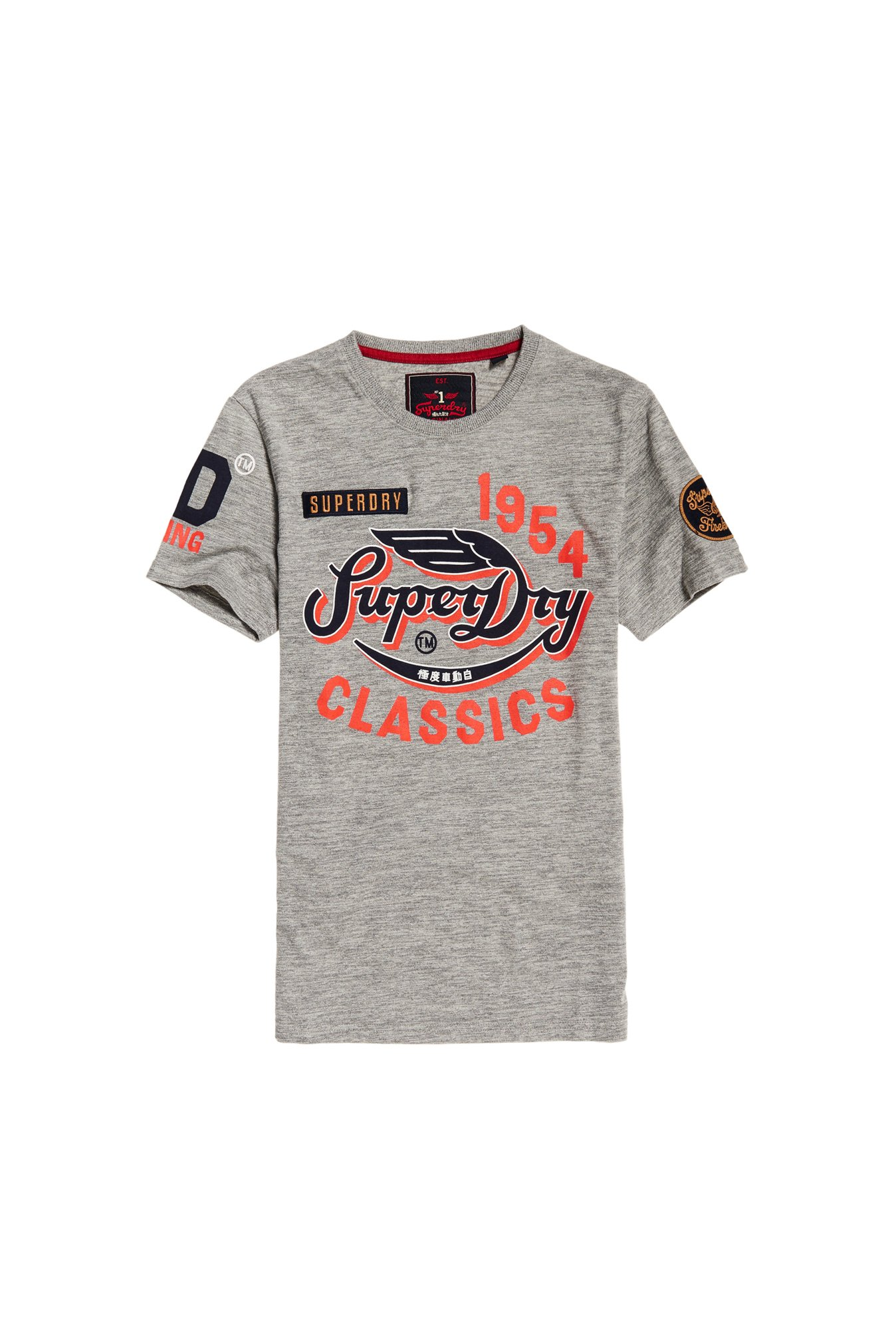Superdry Grey Printed T-Shirt