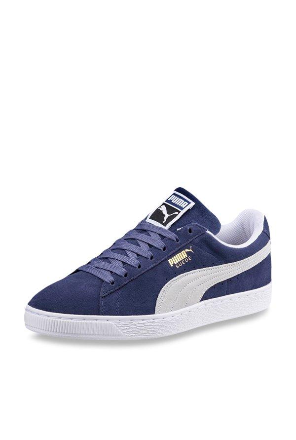9d6d3e26da44cc Buy Puma Suede Classic Plus Peacoat   White Sneakers for Men at Best Price    Tata CLiQ