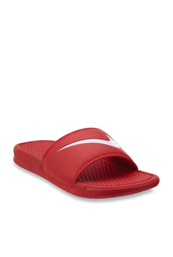 9ca94f73df5c Buy Nike Benassi Swoosh Red Casual Sandals for Men at Best Price ...