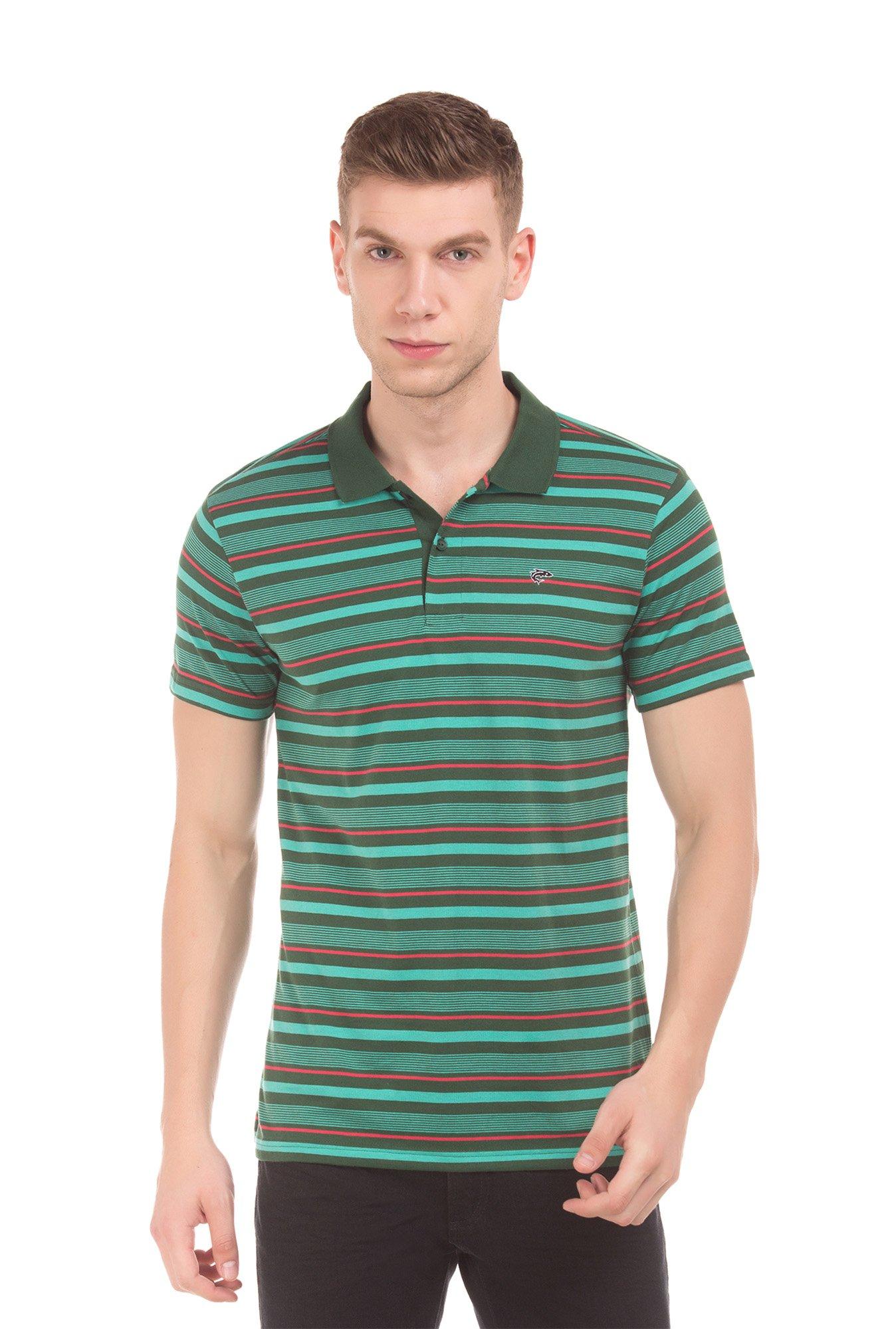 906b95b39f709f Buy Ruggers Green Cotton Polo T-Shirt for Men Online @ Tata CLiQ