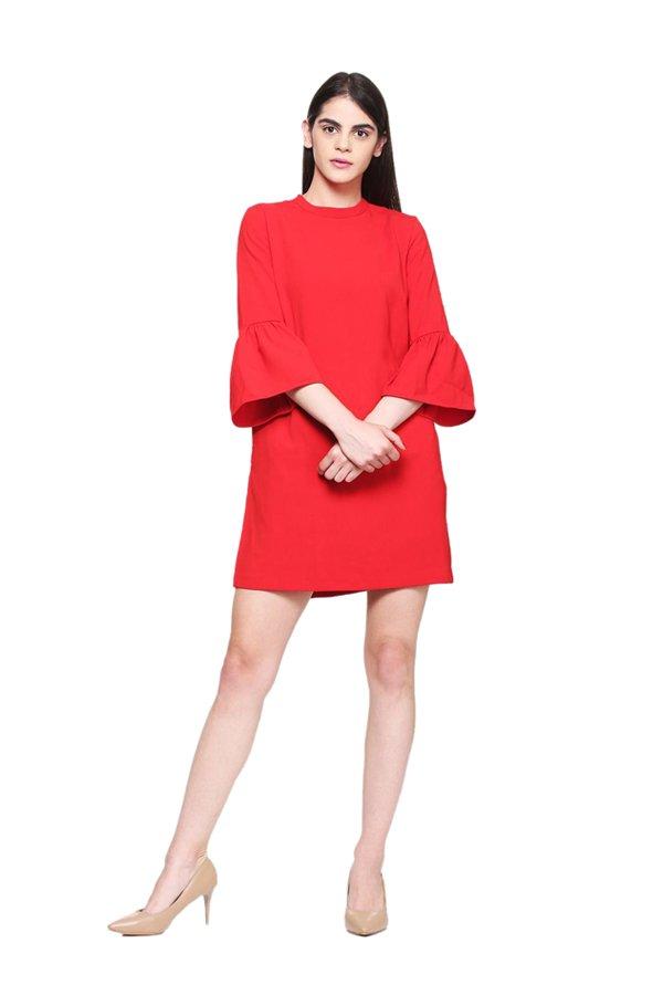 32a4c1ae89 Buy Van Heusen Red Midi Dress for Women Online   Tata CLiQ